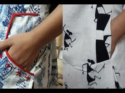 Very Stylish Side Pocket Cutting And Stitching. DIY 2018