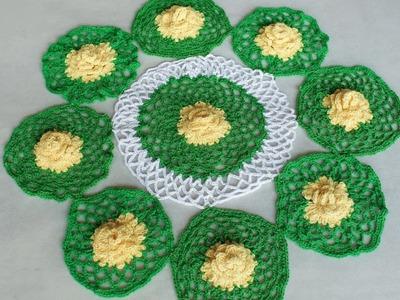 WOW !!! Woolen Rumal Making || Rumal Design | DIY Room Decor | Woolen Crafts || Table Mat | Thalpos