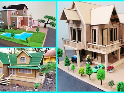 3 Amazing Beautiful Cardboard House to do at Home ( Dream House ) - Compilation