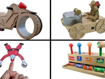 4 Amazing ideas from Cardboard DIY TOYS