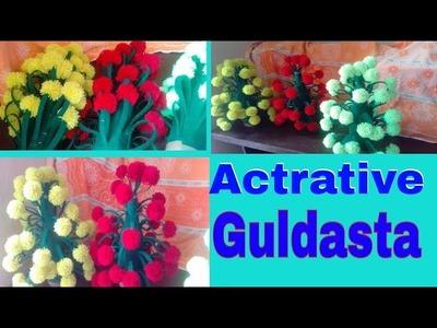 Actrative guldasta   गुलदस्ता   home decoration  hand craft Chandni design  
