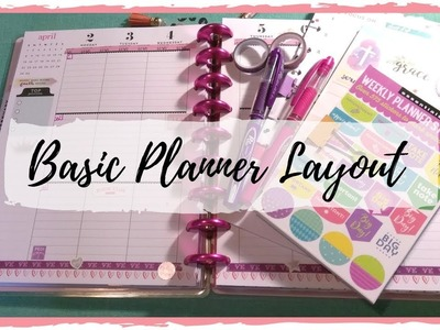 April Weekly Planner Layout
