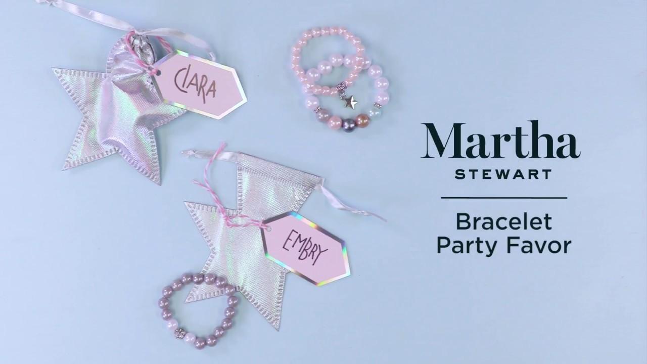Bracelet Party Favor with Martha Stewart | Michaels
