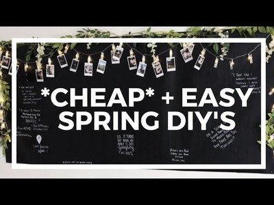 Cheap + Easy Spring DIY's!
