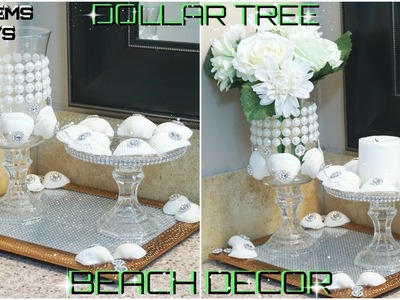 DIY DOLLAR TREE | GLAM BEACH DECOR IDEAS 2018 | PETALISBLESS