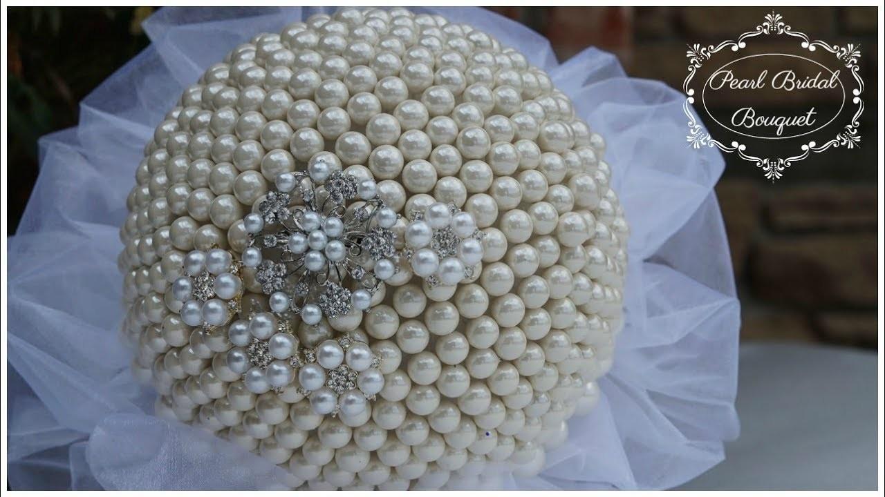 DIY Pearl Bridal Bouquet | DIY Glam Wedding Bouquet | DIY Wedding Tutorial