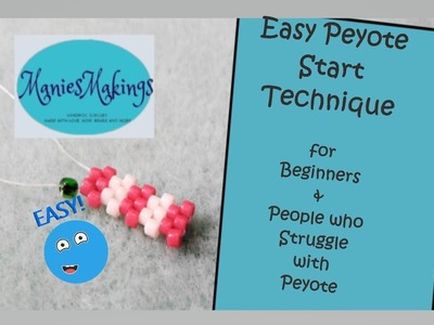 Easy Peyote Start Technique - for Beginners & those who struggle with Peyote