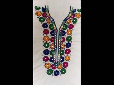 HAND EMBROIDERY: ARABIC DESIGN. PART-2. COMPLETED