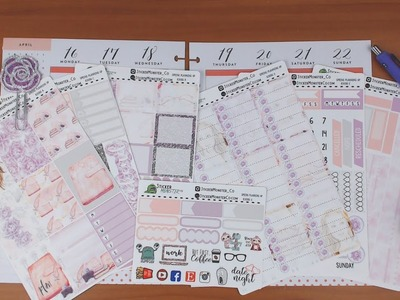 Happy Planner Plan with Me April 16-22 featuring StickerMonsterCo