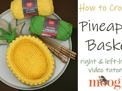 How to Crochet: Pineapple Basket (Right Handed)