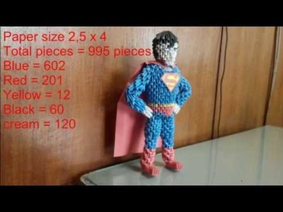 How to make 3d origami superman