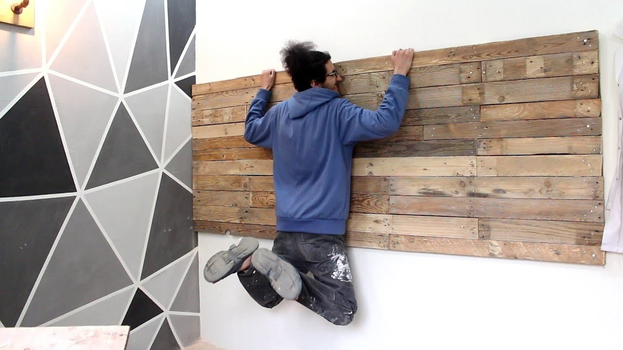 How to make a pallet wall tools organizer - صنع جدار باليت لتعليق الأدوات  (part 1)