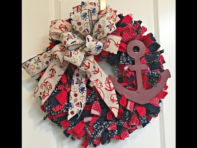 How to make a Rag Wreath great project to do with old jeans or scrap material