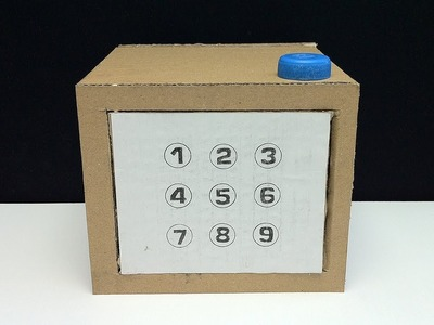 How to Make a Safe with a Pattern Lock from cardboard - DIY Secret Safe #4