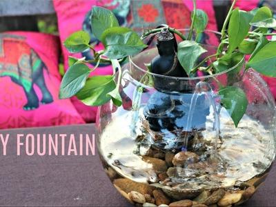 How to make a Table Top fountain in 2 min  Easy Fountain idea  DIY