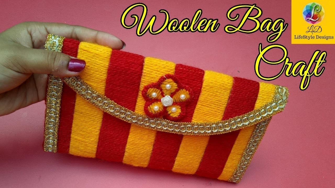 How To Make A Book Out Of Ziploc Bags : How to make a woolen ladies hand bag or purse using