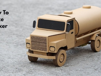 How To Make RC Fuel Truck From Cardboard Very Simple