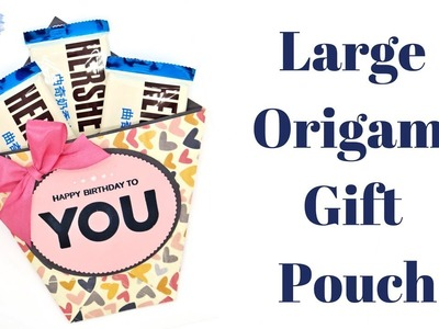 Large Origami Treat Pouch | The Social Papercrafter Magazine