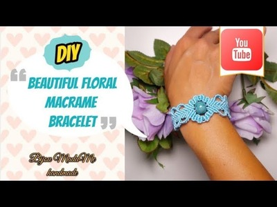 Macrame bracelet tutorial | DIY macrame jewelry | How to make floral bracelet | Macrame crafts