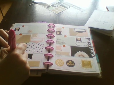 Plan with me in my mini happy planner using a free printable kit.