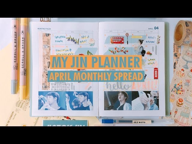 Plan With Me (JIN Planner) - April Monthly Spread