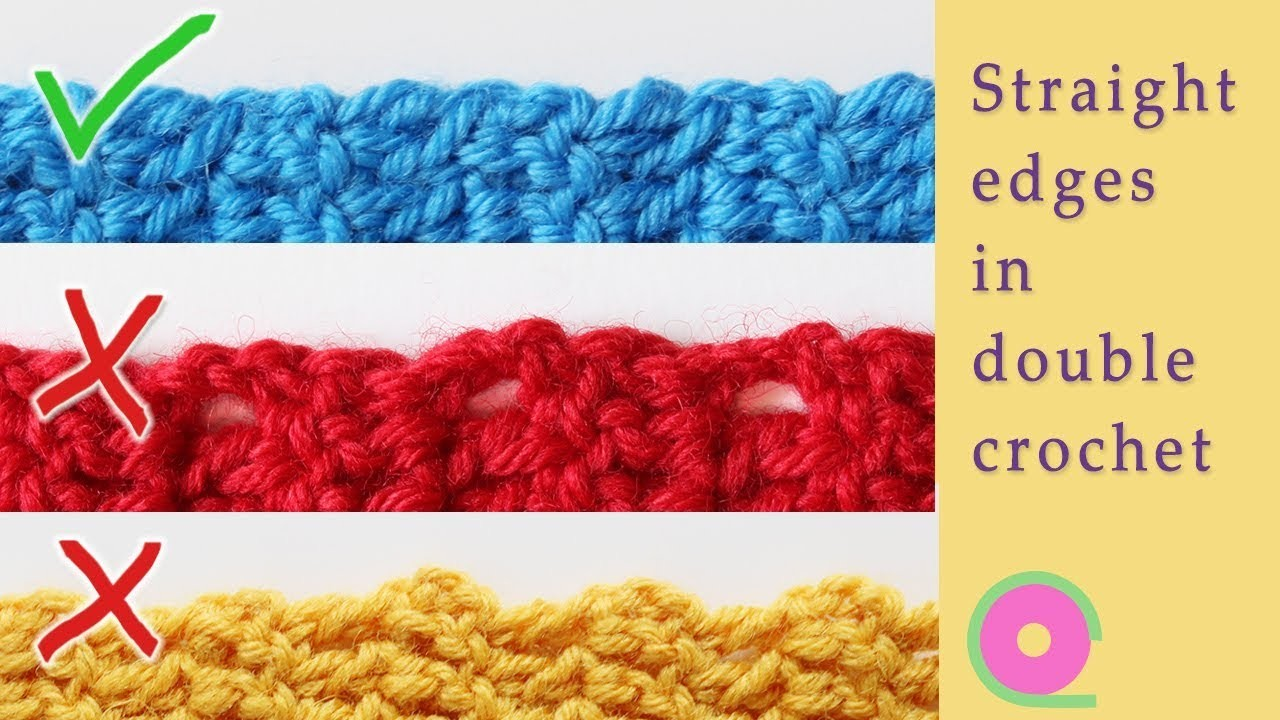Straight edges in double crochet every time