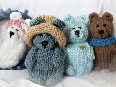 Teddy Bear on a Loom (Round 24-peg) |  Strickring | Tejer a Telar | Tricotin | نول