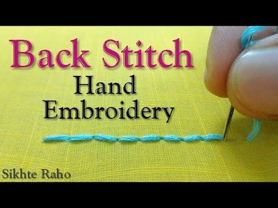 Back Stitch for beginners    hand embroidery