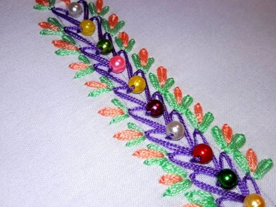 Hand Embroidery | Border Design | Hand Embroidery Designs.