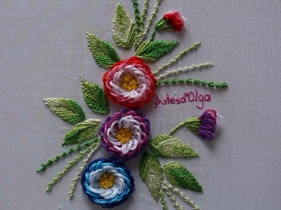 Hand Embroidery: Looped Blanket Stitch–Turkish Stitch | Bordados a mano: Puntada Festón (Variación)