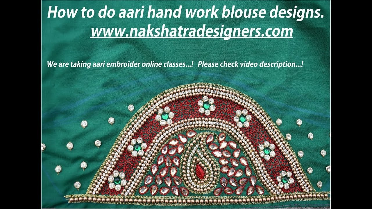 How to do aari hand work blouse designs and Online Classes