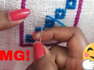 Omnisun | cross stitch design for table | Hand Embroidery designs | Cross stitch | wool asan design