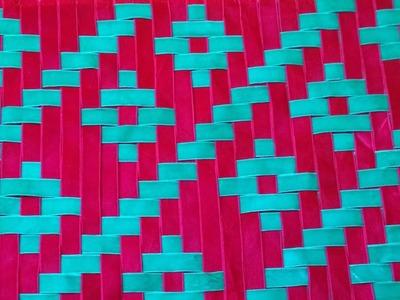 Weaving Tutorial.Meshwork.Ribbon.Cojin Decorado Tutorial-3 (3D Cushion.Mat.Dress)