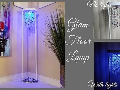 Diy Glam Floor Lamp| Simple and Inexpensive Home Decor