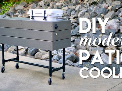 DIY Outdoor Patio Cooler Ice Chest Made Using Basic Tools. Woodworking - How To