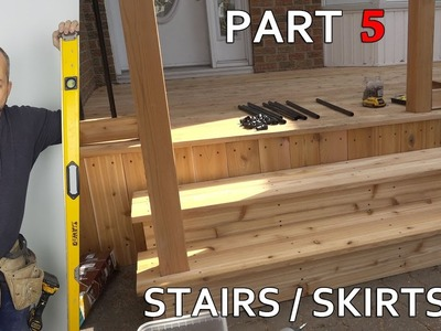 DIY Weekend Deck Project Part 5 - Skirt, Box Steps And Angled Railings