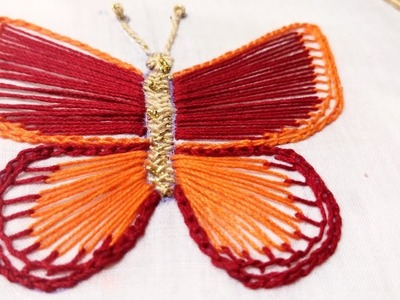 Fancy Butterfly (Hand Embroidery Work)