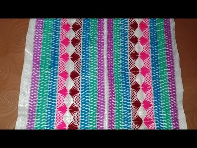 Hand embroidery cement sac embroidery for Aasan paydaan or purse or pouch