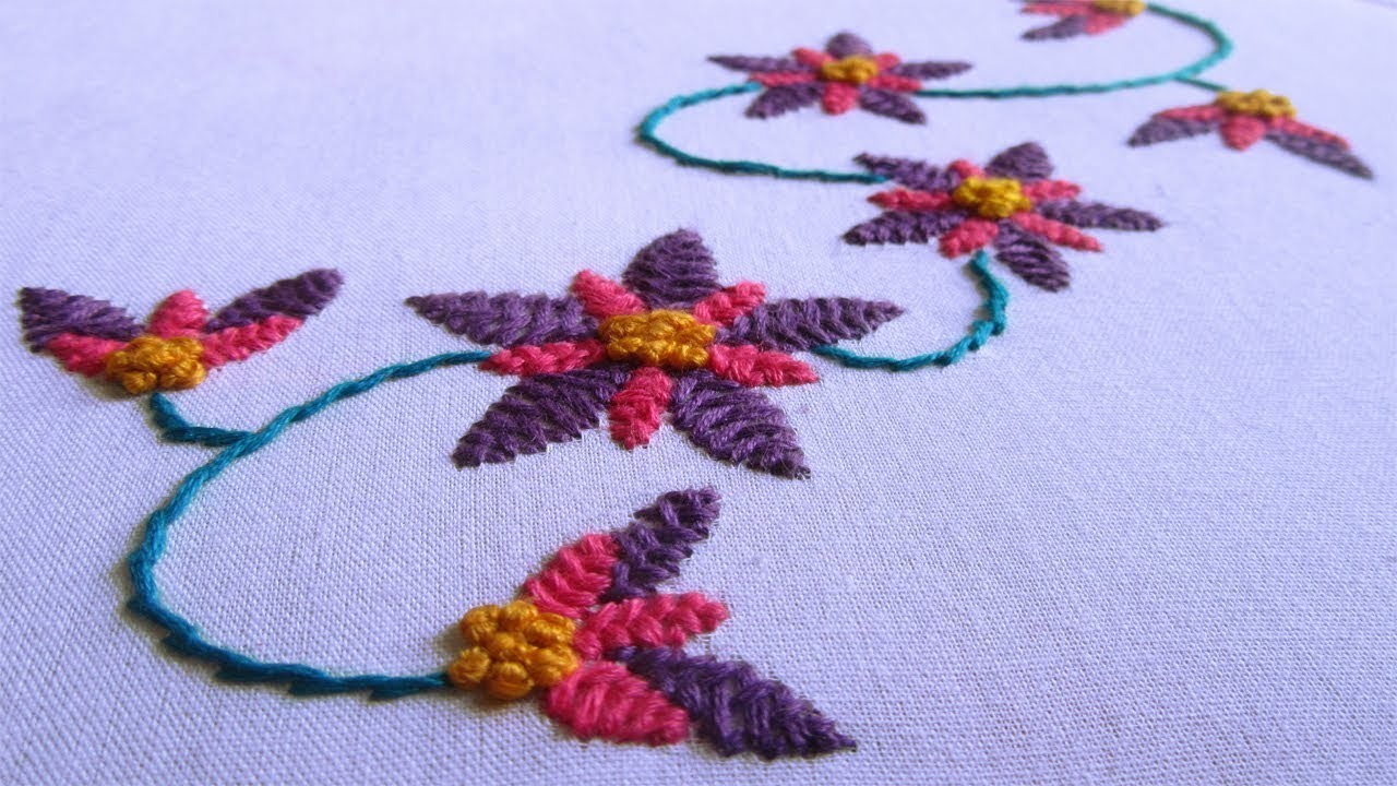 Embroidery dresses design i hand embroidery dress design by