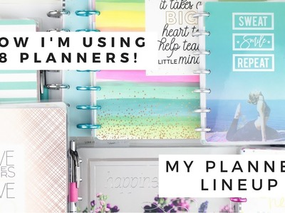 How Im Using 8 PLANNERS! ???? July 2018 Planner LINEUP | At Home With Quita