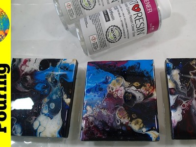 How to Add a Resin Coating to Your Acrylic Pour Paintings