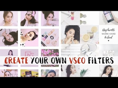 How to Create Your Own VSCO Filters | White + Pink Feed Tutorial
