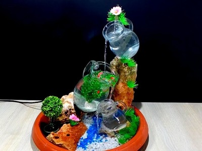 How to make a Beautiful Fountain with glass pitcher. jug