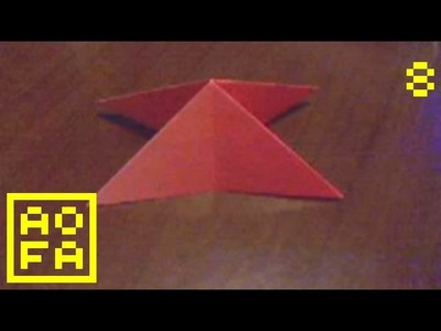 How to make an Origami Water Bomb. Triangle Base . for all (08)