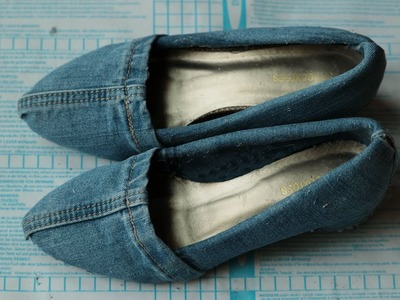 How to make denim shoes at home