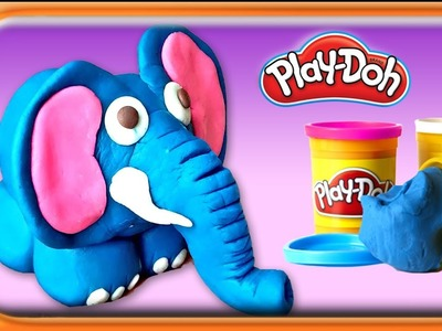 How to make Elephant Toy ???? | Learn Colors with Play doh modelling clay for kids | massinha