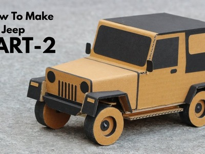 How To Make RC Jeep From Cardboard || Very Simple  PART - 2