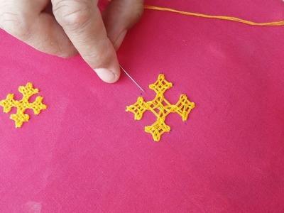 How to make Sindhi Work.gujrati stitch