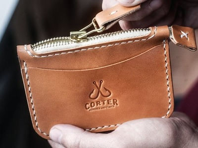 Making a Leather Zipper Wallet by Hand
