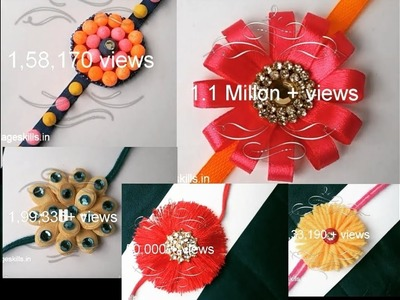 My top Ten Rakhi collection images in last year l hand made project images l colourful collections
